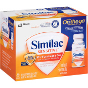 Similac - Sensitive On-The-Go Bottled Formula for Fussiness & Gas, 240ml, 1 - 6 ct