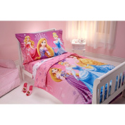 Disney Sparkle Like a Princess 4-Piece Toddler Bedding Set