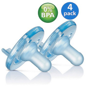 Philips AVENT - Soothie Pacifier, (4-Pack) 0-6 Months, Blue SCF190/03