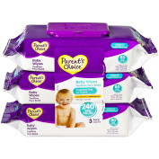 Parent's Choice Fragrance Free Flip-Top Baby Wipes, 80 sheets, 3 count