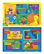 Neat Solutions Sesame Street Table Topper Disposable Stick-On Placemats, 30-Count