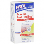 TriDerma MD Eczema Fast Healing Face and Body Lotion with Bonus Tube, 120ml
