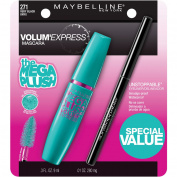 Maybelline Volum' Express Mega Plush Mascara, 271 Very Black, with Unstoppable Eyeliner, 10ml
