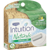 Schick Intuition Naturals Sensitive Care Refill Cartridge, 3 count