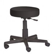 Earthlite Pneumatic Rolling Massage Stool - Black