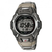 Casio Men's Atomic-Solar G-Shock Watch, Stainless-Steel Bracelet