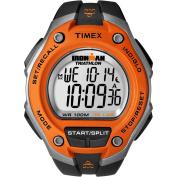 Timex Men's Ironman 30-Lap Oversize Orange Watch, Black Resin Strap