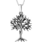 Brinley Co. Sterling Silver Tree of Life Pendant, 45.7cm