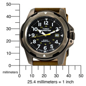 Timex Men's Expedition Rugged Field Watch, Green Leather Strap