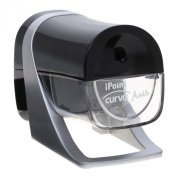 Westcott iPoint Curve Axis Electric Pencil Sharpener, Black