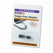 Softalk, LLC Rotating 360 Telephone Cord Detangler, Clear/Black