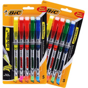 Bic Brite Liner Liquid Highlighters, 10 Assorted Colour Pens