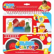 Block Crayon Fire Truck Colouring Book