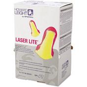 Howard Leight by Honeywell LL-1-D Laser Lite Single-Use Earplugs, Cordless, 32NRR, Magenta/Yellow, LS500, Box