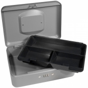 Barska Medium Grey Cash Box with Combination Lock