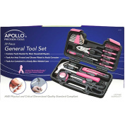Apollo 39-Piece Tool Set, Pink
