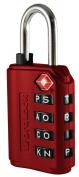 Word-Lock LL-206-RD Luggage Locks 4-Dial -Red