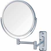 Jerdon 20cm 2-Sided Swivel Wall Mount Mirror with 8x Magnification, 34cm Extension, Chrome