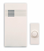 Heath Zenith SL-6150-C Wireless Battery Operated Door Chime Kit, White