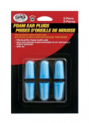 SAS Safety 6104 Blue Foam Earplugs with Clamshell - 3 Pair