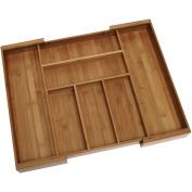 Lipper Bamboo Expandable Flatware Drawer Organiser
