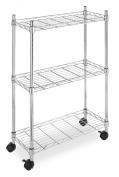 Whitmor Supreme Laundry Cart, Chrome