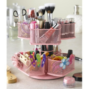 Nifty Home Products Cosmetic Organising Carousel in Powder Coated Pink