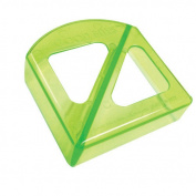 Ginsey Sandwich Cutters Good Bites Translucent in Lime Green
