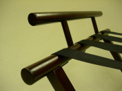Proman Products Luggage Rack with Backing in Walnut