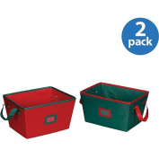 Household Essentials Tapered Holiday Bins, Set of 2