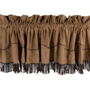 HiEnd Accents Barbwire Valance with Fringe in Tan