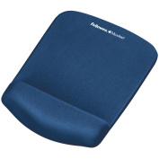 "PlushTouch Mouse Pad with Wrist Rest, Foam, Blue, 7-1/4"" x 9-3/8"""