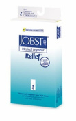Jobst 114761 Relief 20-30 mmHg Unisex OPEN TOE Knee Highs with Silicone Top Band - Size- Beige Large Petite