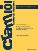 Studyguide for Human Resources Management by Anthony, William P