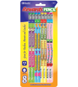 Bazic 717-24 Reward and Incentive Wood Pencils with Eraser- Pack of 24