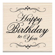 Inkadinkado Mounted Rubber Stamp, Happy Birthday To You 7.6cm x 7.6cm