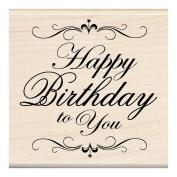 Inkadinkado Mounted Rubber Stamp, Happy Birthday To You 7.6cm x 7.6cm