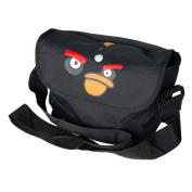 Blancho Bedding MB-AG-BLACK Angry Birds - Black Multi-Purposes Messenger Bag / Shoulder Bag