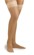 Activa H1201 Ultra-Sheer Lace Top Thigh Highs 9-12 mmHg - Size & Colour- Suntan Size A