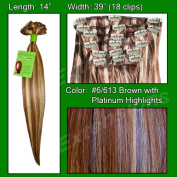 Brybelly Holdings PRST-14-6613 No. 6-613 Chestnut Brown with Platinum Highlights - 36cm