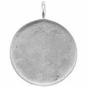 Base Elements Circle Pendant 33mm 1/Pkg-Silver Overlay