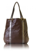 zen3 400b Lotus Woven Brown Bag