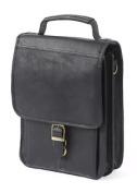 Claire Chase 424E-black Mini Computer Man Bag - Black