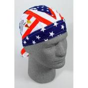 ZANheadgear Flydanna 100 Percentage Cotton Flag, Stars and Stripes V Bandanna