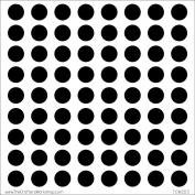 Crafter's Workshop Template 15cm x 15cm -Circle Grid