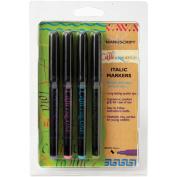 Manuscript CalliCreative Markers 3.6mm 4/Pkg-Blue, Green, Pink & Purple