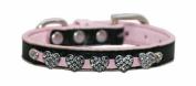 Hip Doggie HD-4PDHC-M Medium Pink Diamond Heart Collar