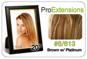 Brybelly Holdings PRLC-20-6613 Pro Lace 50cm . No. 6-613 Chestnut Brown with Platinum Highlights