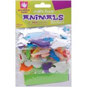 Foam Stickers 150/Pkg-Mini Animals