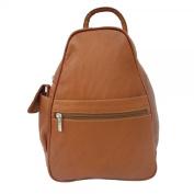 Piel Leather 2017 Tri-Shaped Sling Bag- Saddle